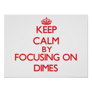 Keep Calm by focusing on Dimes Posters