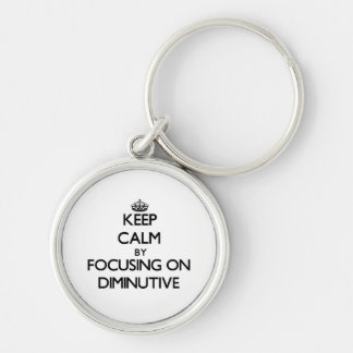 Keep Calm by focusing on Diminutive Silver-Colored Round Keychain