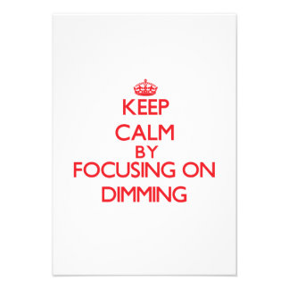 Keep Calm by focusing on Dimming Personalized Announcements