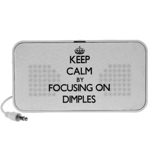 Keep Calm by focusing on Dimples PC Speakers