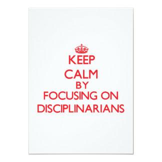 "Keep Calm by focusing on Disciplinarians 5"" X 7"" Invitation Card"