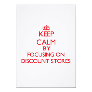 Keep Calm by focusing on Discount Stores Card
