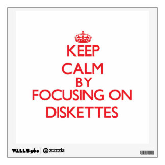 Keep Calm by focusing on Diskettes Wall Skins
