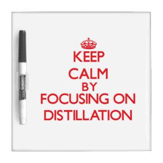 Keep Calm by focusing on Distillation Dry-Erase Board