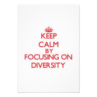 Keep Calm by focusing on Diversity Custom Invites