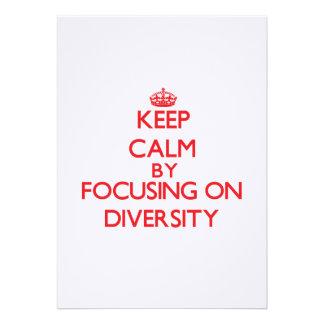 Keep Calm by focusing on Diversity Custom Invite