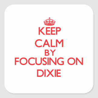 Keep Calm by focusing on Dixie Square Sticker