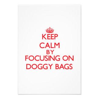 Keep Calm by focusing on Doggy Bags Custom Invites
