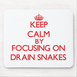 Keep Calm by focusing on Drain Snakes Mouse Pad