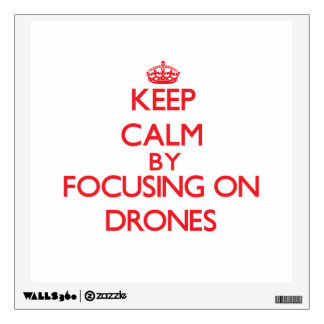 Keep Calm by focusing on Drones Wall Decal