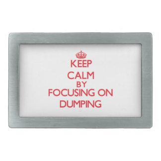Keep Calm by focusing on Dumping Rectangular Belt Buckle