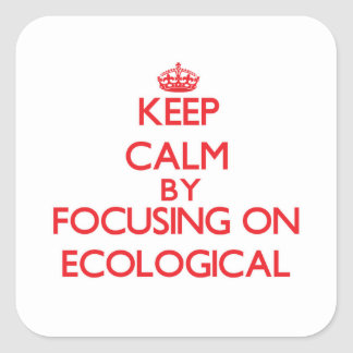 Keep Calm by focusing on ECOLOGICAL Sticker
