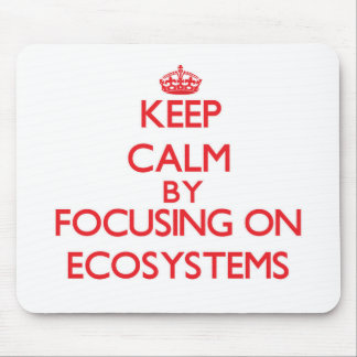 Keep Calm by focusing on ECOSYSTEMS Mousepad