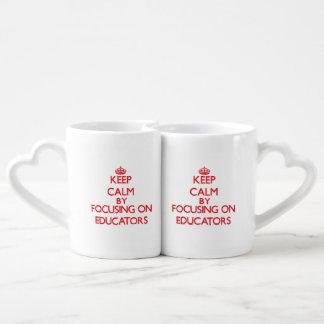Keep Calm by focusing on Educators Couples' Coffee Mug Set