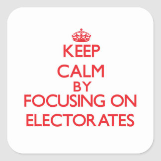 Keep Calm by focusing on ELECTORATES Square Sticker