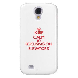Keep Calm by focusing on ELEVATORS Samsung Galaxy S4 Case
