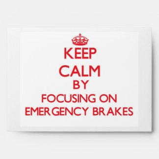 Keep Calm by focusing on EMERGENCY BRAKES Envelope