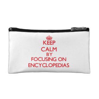 Keep Calm by focusing on ENCYCLOPEDIAS Makeup Bag