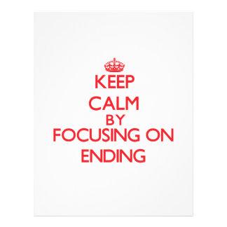 Keep Calm by focusing on ENDING Flyer Design