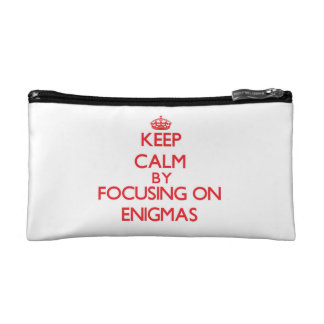 Keep Calm by focusing on ENIGMAS Makeup Bag