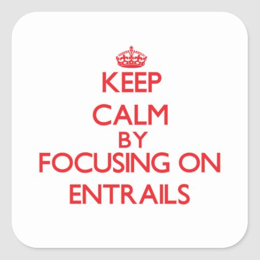 Keep Calm by focusing on ENTRAILS Stickers