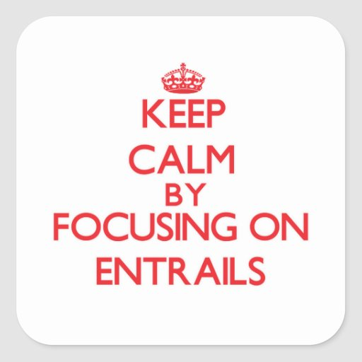 Keep Calm by focusing on ENTRAILS Square Sticker