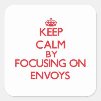 Keep Calm by focusing on ENVOYS Sticker
