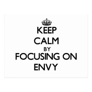 Keep Calm by focusing on ENVY Post Cards