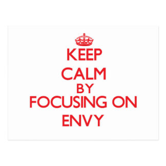 Keep Calm by focusing on ENVY Postcards