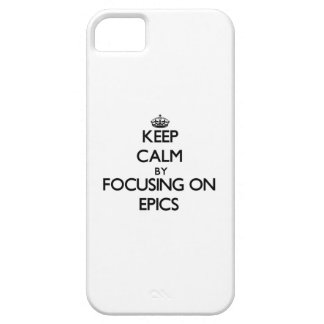 Keep Calm by focusing on EPICS iPhone 5 Cover