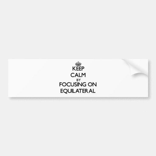 Keep Calm by focusing on EQUILATERAL Bumper Sticker