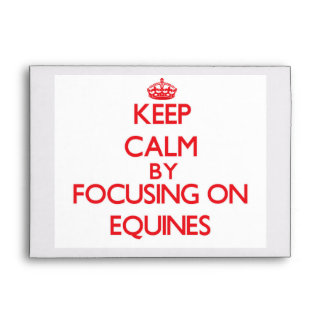 Keep Calm by focusing on EQUINES Envelopes