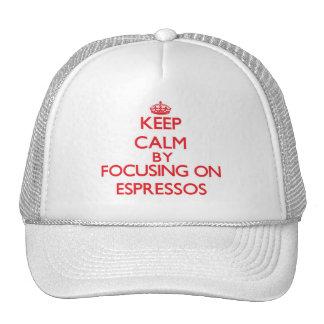 Keep Calm by focusing on ESPRESSOS Mesh Hat