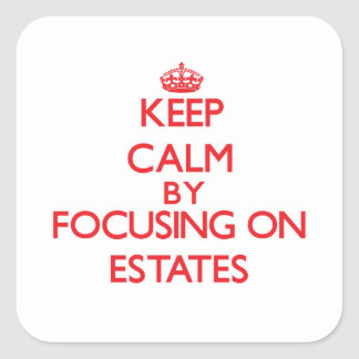 Keep Calm by focusing on ESTATES Sticker