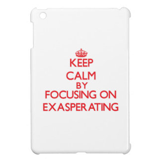Keep Calm by focusing on EXASPERATING Cover For The iPad Mini