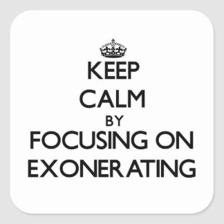 Keep Calm by focusing on EXONERATING Stickers