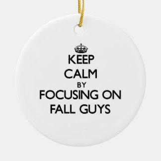 Keep Calm by focusing on Fall Guys Christmas Tree Ornament