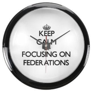 Keep Calm by focusing on Federations Aquarium Clock
