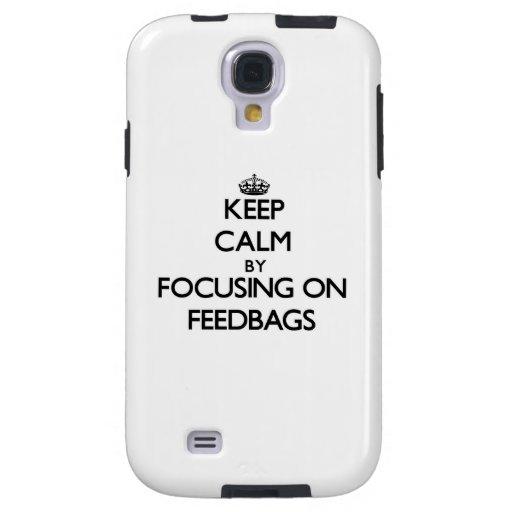 Keep Calm by focusing on Feedbags Galaxy S4 Case