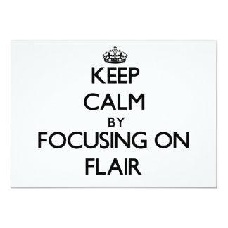 Keep Calm by focusing on Flair 5x7 Paper Invitation Card