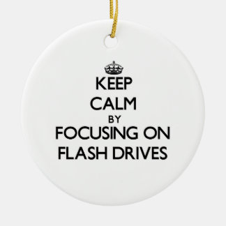 Keep Calm by focusing on Flash Drives Christmas Tree Ornaments