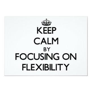 Keep Calm by focusing on Flexibility 5x7 Paper Invitation Card