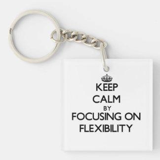 Keep Calm by focusing on Flexibility Acrylic Keychains