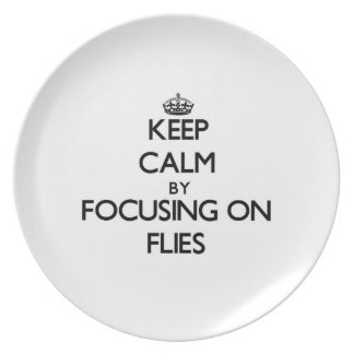 Keep Calm by focusing on Flies Plates