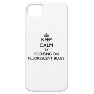 Keep Calm by focusing on Fluorescent Bulbs iPhone 5 Covers