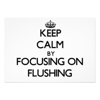 Keep Calm by focusing on Flushing Personalized Invitation