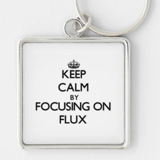 Keep Calm by focusing on Flux Keychains