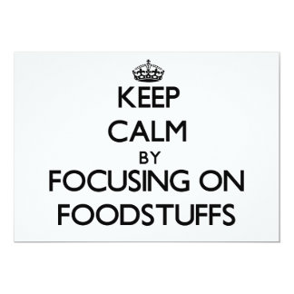 Keep Calm by focusing on Foodstuffs Card