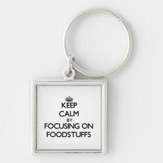 Keep Calm by focusing on Foodstuffs Keychains
