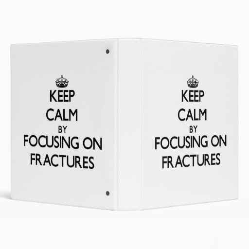 Keep Calm by focusing on Fractures Binders